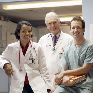 Confident Medical Team --- Image by © Royalty-Free/Corbis